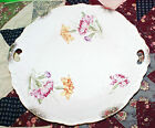 Antique 2 Handled China Carnation Flower Designed 10 1/2 Inch  Serving Plate