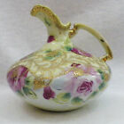 ANTIQUE NIPPON HAND PAINTED SQUAT EWER WITH 24K GOLD LEAF CIRCA 1890s