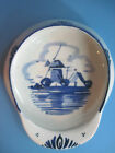 Delft Holland Dutch Hat-Cap Vintage Blue Windmill Pin Dish-Ashtray