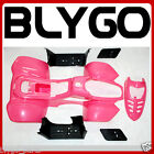 PINK Plastics Fairing Fender Guards Cover Kit 50cc 70cc 110cc Quad Dirt Bike ATV