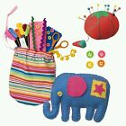 Toy Craft Sewing Kit Art Set Material Case Pattern Learn Color Child Kid Toddler
