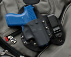 Glock 42 Kydex Leather Gun Holster IWB Appendix Concealed Carry G42 380