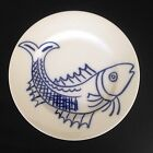 Fitz and Floyd Carp Fish Salad Plate In Glaze Blue 2nd 20th Anniversary Gift