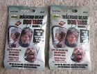 Two Walking Dead Season 3 Dog Tags - Blind Packs - Tag, Ring & Sticker per Pack