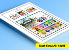COLOR PRINTED SOUTH KOREA 2011 2015 STAMP ALBUM PAGES 36 illustrated pages