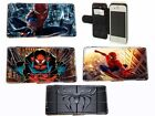 Spiderman Leather Wallet flip Phone case for Iphone Samsung HTC LG Xperia i8 s9