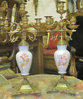 Pair of Nineteen Century Porcelain & Barons Uren Candelabra Made in France