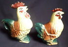 Vintage Japan Rooster Hen Chicken Salt and Pepper Cream Sugar Set Japan