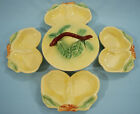 Belmar California Pottery Yellow Pear Fruit Bowls and Serving Dish with Lid