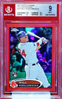 WILL MIDDLEBROOKS - 2012 TOPPS CHROME RED REF RC #ED 25 BGS 9
