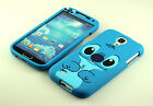for Samsung Galaxy SIV S4 I9500 cute Stitch Dual Front + back Case cover Pouch