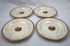 SET OF FOUR (4) VINTAGE ROYAL CHINA WARRANTED 22K GOLD VICTORIAN PORTRAIT PLATES