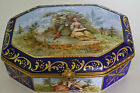 Gorgeous  Sevres Style Artist Signed Hand Painted French Porcelain Dresser Box