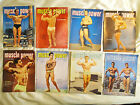 LOOK !! Biggest lot ever  8 magazines MUSCLE POWER october 1950 till may 1958