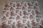 NEW~~Victorian Red Heavy Corset Fabric Reproduction Print 1 yard Corset Weight