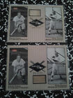 hall of fame duke snider & ralph kiner autograph 3x5s with 2002 fleer bat cards
