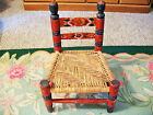 Childs Cane Bottom Wooden Chair Vintage