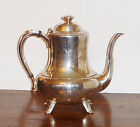 Antique 1881 Rogers Croydon Silverplate 562 Teapot with M Initials 1850-1899