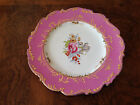 Antique / Vintage Decorative Ornate Pink and White Plate