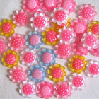 New 10pcs MIX Resin Sunflower Flatback Appliques For phone wedding craft DIY