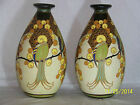 Charles Catteau Boch Freres Keramis Art Deco Art Pottery Pair of Vases
