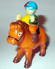 VINTAGE CUTE PLASTIC WIND UP KENTUCKY DERBY TYPE HORSE AND JOCKEY not glass