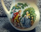 VICTORIAN COUPLE SCENE VINTAGE USA CERAMIC CREAMER PITCHER MINT