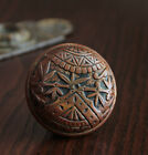 Antique BRANFORD Cast Bronze Door Knob. Circa 1885.