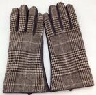 NWT WOMENS MERONA BROWN PLAID SHEEP LEATHER GLOVES SIZE S/M, NEW