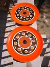 Vtg SMF SCHRAMBERG GERMANY SAMBESI Orange Lot of 2 salad plates Retro 60s