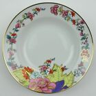 Imperial Leaf Pattern Soup Bowl Made In China Gold Accents Floral Flowers Band