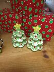 HOLIDAY Christmas Tree Salt & Pepper Shakers with GIFT BOX