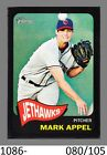 1-2014 TOPPS HERITAGE MINORS BLACK PARALLEL MARK APPEL PHILLIES 080 105