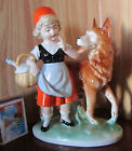 Little Red Riding Hood & Wolf Porcelain Figurine Old  Germany Fairy Tale Vintage