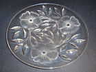 Lead Crystal - Cut Glass - Plate - Floral Theme - Detailed - Beautiful - 8.25