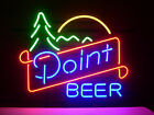 NEW POINT BEER REAL GLASS NEON LIGHT BEER LAGER BAR SIGN