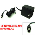 OEM Brand AC Adapter Power Supply 12 VAC-1Amp I/P 120VAC-60Hz, 18W, Out 12VAC-1A