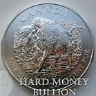 2013 1 oz BU Silver Wood Bison Canadian Wildlife Series 5 Canada Coin