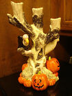 VINTAGE 1998 FITZ AND FLOYD HALLOWEEN 3 BRANCH CANDELABRA CANDLE HOLDER NWB 12IN