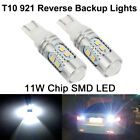 2X 11W 6000k 921 T10 Back up Reverse LED Light Bulbs Projector Lens Super White