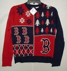 MLB Boston Red Sox Busy Block Ugly Sweater Youth Size Youth Small by FOCO
