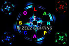 4PCS Solar LED Wheel Center Cap Light Neon Under Hub Undercar Underglow Kit C91