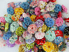 Reproduction FEEDSACK Flower 100 Yo Yo Fabric Quilt Vintage Doll Dress Applique