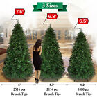 New Christmas Tree 5 6 7 8ft w Steel Base Decorate Ornament Xmas GREEN NATURAL