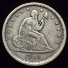 1838 Seated Liberty QUARTER Dollar SILVER Nice XF+ Detailing RARE First Year 25C