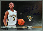 11 Upper Deck UD All Time Greats Chris Paul ON CARD NBA AUTO #3 10 JERSEY NUMBER