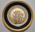 Vintage Made in Japan Art of Chokin Collector Plate 24K gold trimmed Iris