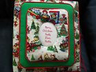 CHRISTMAS Train - Personalized Fabric Photo Album / Scrapbook - No Lace HANDMADE