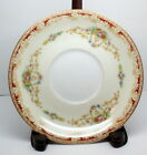 Noritake Made in Occupied Japan Saucer Red Gold Scroll Floral Border