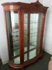 R.J.HORNER ANTIQUE 1800's CARVED Northwind FACE OAK Griffen CLAW CHINA CABINET